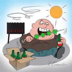 карикатура на пикнике дурак